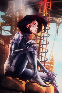 Alita Battle Angel Illustration