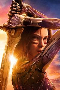 Alita Battle Angel With Sword 4k