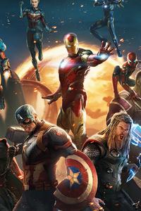 320x568 All Avengers 4k