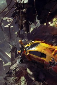 All Gone Cyberpunk Girl With Lamborghini