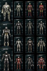 1125x2436 All Iron Man Suits