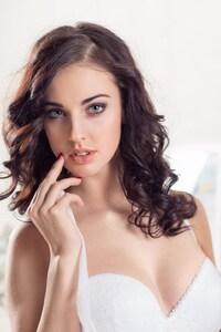 1080x2160 Alla Berger In White Dress