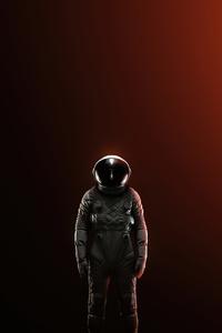 640x1136 Alone Astronaut 4k