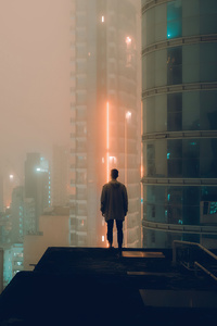 Alone At Rooftop