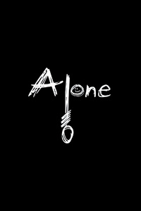 Alone Dark Typography 4k