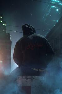 1080x2280 Alone In Dark Street