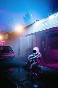 1080x2280 Alone Nights Of Astronaut 5k