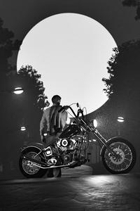 240x320 Alone Rider 4k