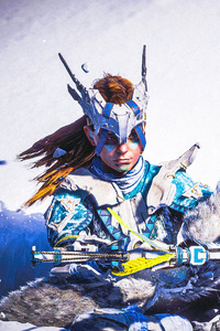 480x854 Aloy Snow Archer Horizon Zero Dawn 4k