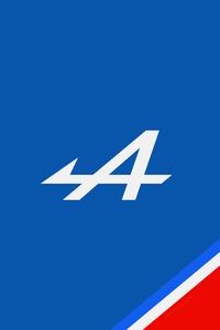 1125x2436 Alpine F1 Logo Minimal