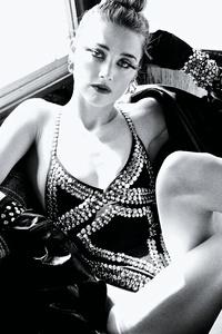 Amber Heard Allure 2017 Monochrome
