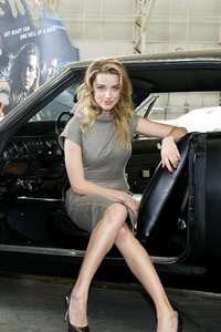 Amber Heard Drive Angry Movie Photoshoot