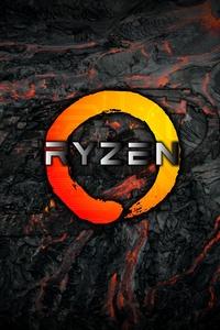 750x1334 AMD Logo Ryzen 4k