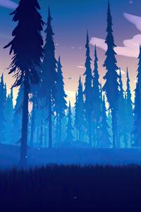 1440x2960 Among Trees Night Is Coming