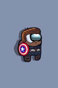 320x480 Among Us Captain America Minimal 5k