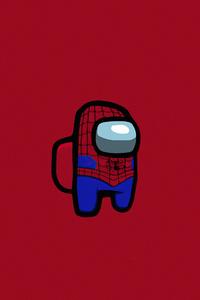 Among Us Spiderman Minimal 5k