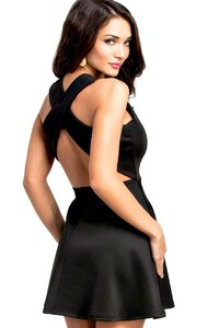 Amy Jackson In Black Dress