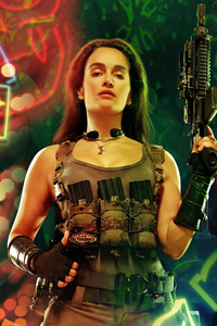 750x1334 Ana De La Reguera As Cruz In Army Of The Dead Character Poster 5k
