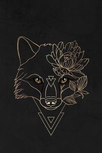 Ancient Fox Minimal Art 4k