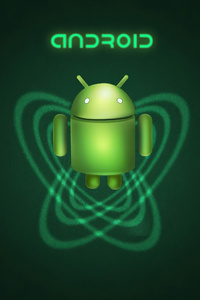 800x1280 Android Green Robot 4k