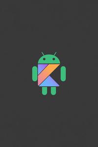 1080x2160 Android Logo Minimal 5k