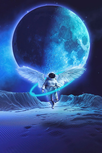 Angel Astronaut 4k