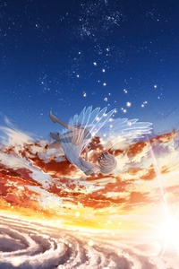 240x400 Angel Falling From Sky 8k