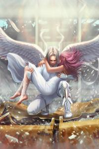 Angel Man Saves A Girl