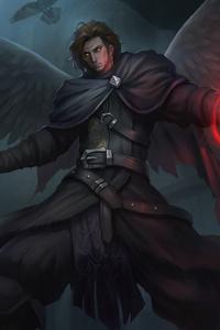 Angel Man With Wings Dark Magic Art