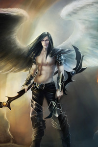 Angel Warrior Fantasy Man Wings