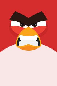 320x480 Angry Bird Minimal 8k