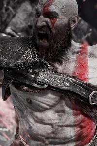1125x2436 Angry Kratos 4k