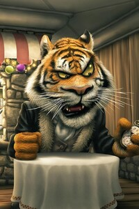 640x1136 Angry Tiger