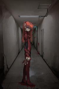 1080x2280 Anime Asuka Langley Soryu 5k