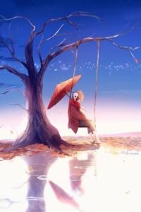 800x1280 Anime Boy Swing Umbrella 4k