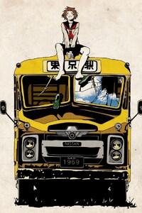 1080x1920 Anime Buses