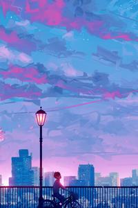 Anime Cityscape Landscape Scenery 5k