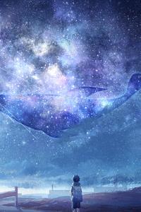 640x960 Anime Fantasy Sky 5k