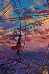 Anime Ferris Wheel Painting