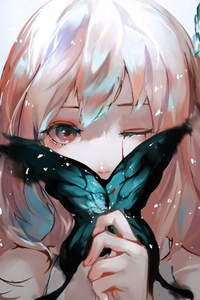 Anime Girl Butterfly Artistic