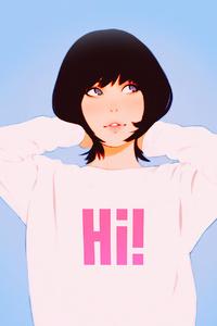 Anime Girl Hi Sweat Shirt 4k