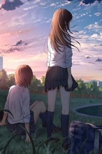 800x1280 Anime Girl In School Uniform