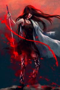 Anime Girl Katana Warrior With Sword
