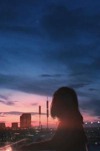 Anime Girl Not Goodbye 5k