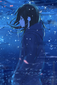 Anime Girl Reflection Water