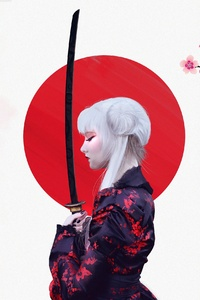 Anime Girl Samurai