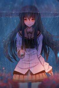 Anime Girl With Umbrella Art