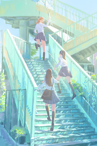 1280x2120 Anime Girls After School 4k