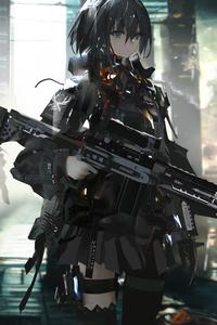 1080x1920 Anime Girls With Big Guns 8k