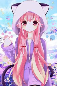 1080x1920 Anime Hoods Neko Ears 4k